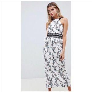 Stylestalker Kaylene Floral Midi Dress - Medium